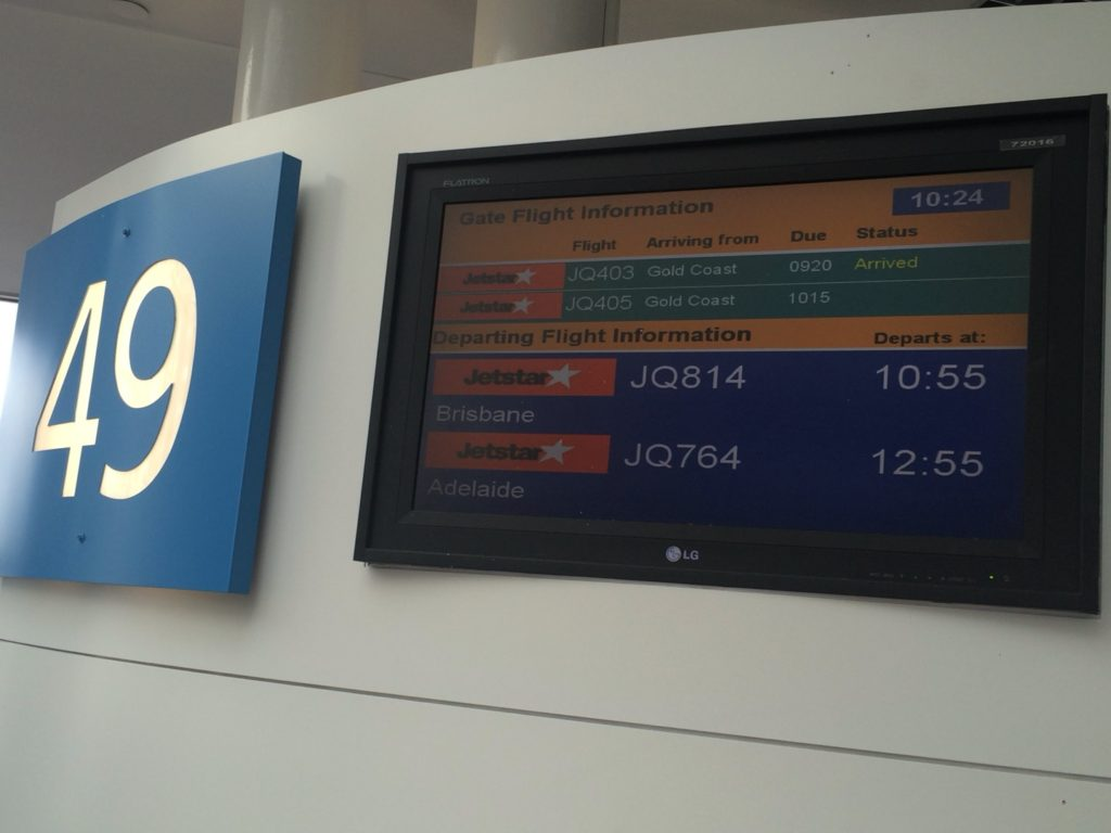 シドニー空港 国内線 49番搭乗口