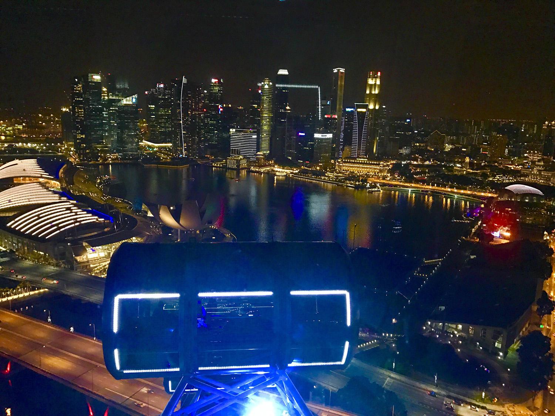 「シンガポールフライヤー」でディナー