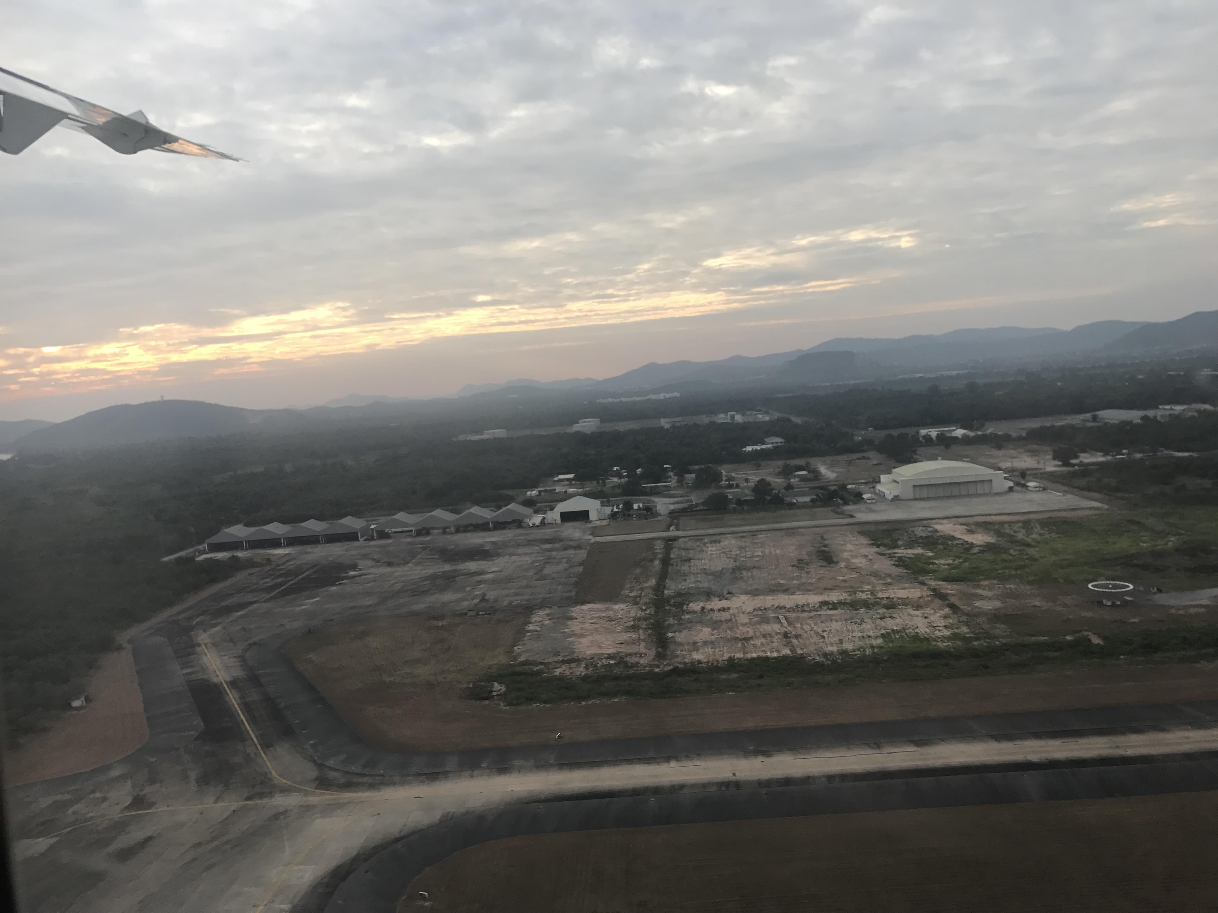 ウタパオ空港を離陸