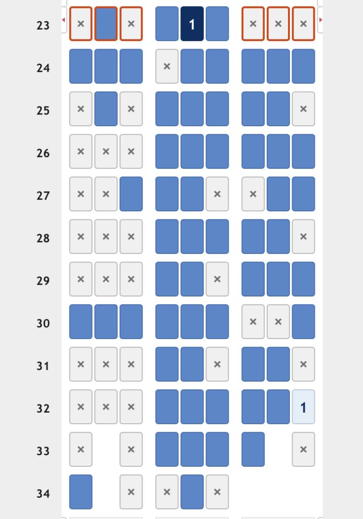 NH877座席表