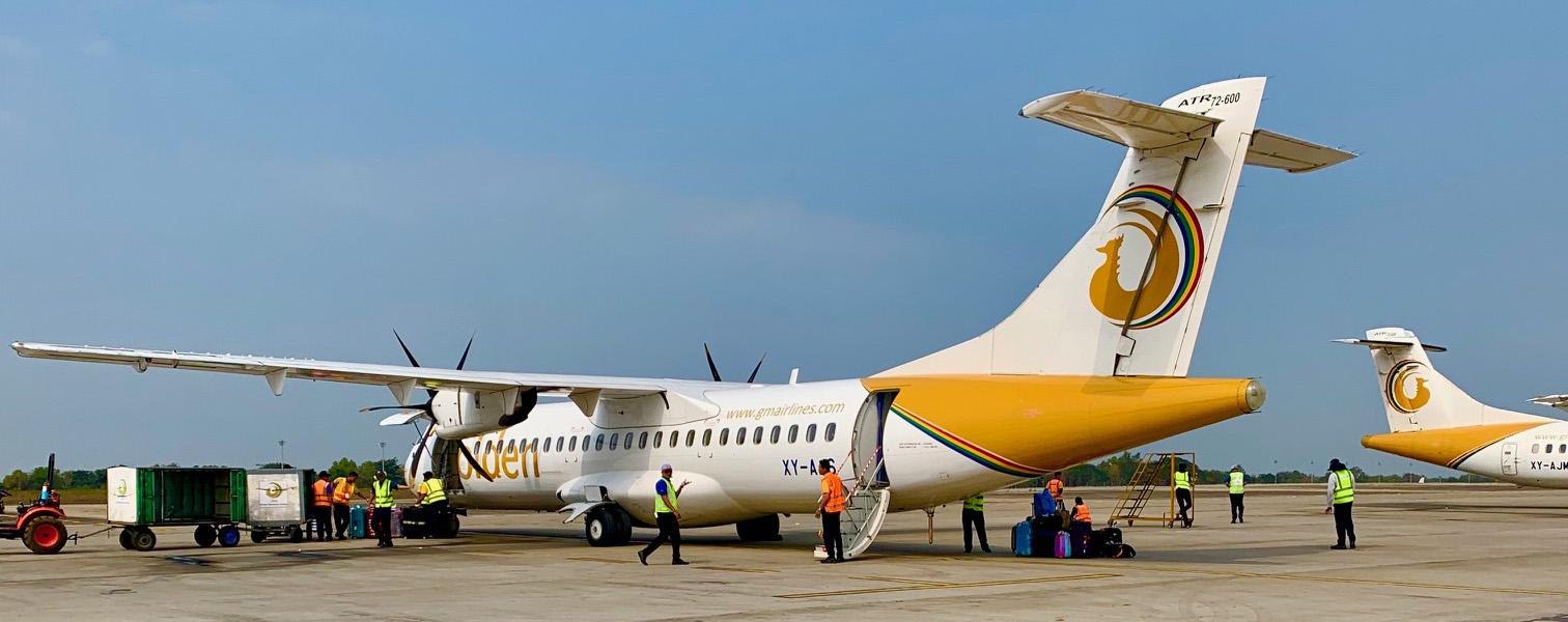 ゴールデン・ミャンマー航空 ATR72
