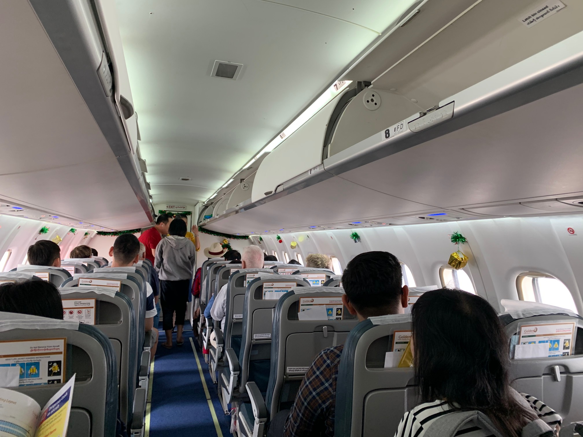 ゴールデン・ミャンマー航空(Y5-403)ヤンゴン-タンドウェ 搭乗記