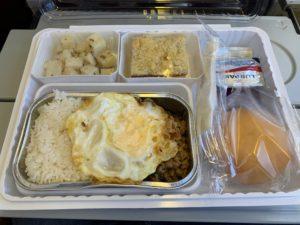 タイ特別便 機内食