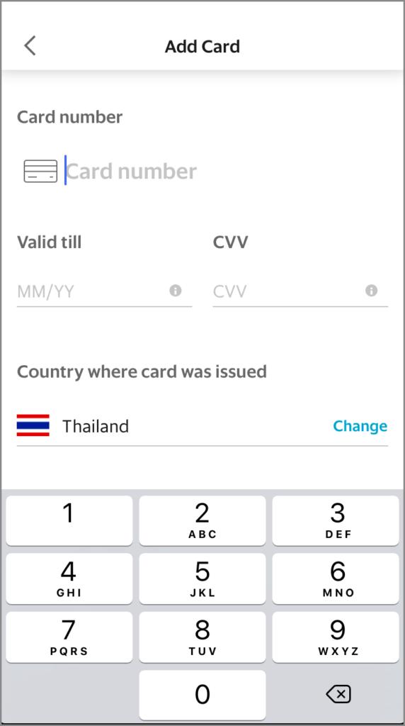 Grab クレジットカード 登録方法