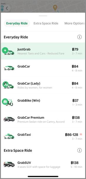 Grab配車方法