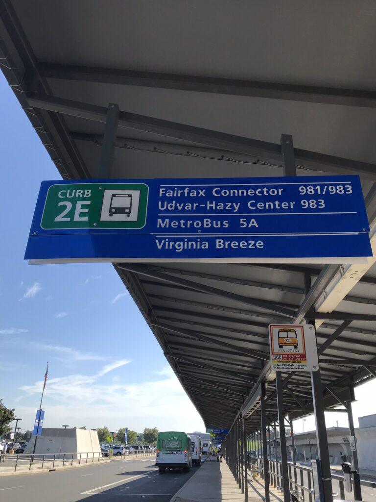 ダレス空港2Eバス停